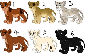 Lion King cub adoptables - OPEN by PCollinsAdoptables