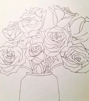 Roses inked finally!! by 2846mn