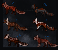 Red Panda Adoptables by NinjaPancake