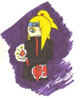 Copic test - Deidara by PsychoticSoulReaper