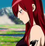 We Don't Talk Anymore - Erza by macarons-n-marzipan