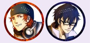 Sarumi Badges by bakeddeer
