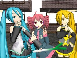 Some Vocaloid Girls by oOPrinzessinZeldaOo