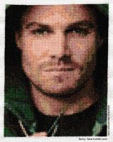 Arrow (Stephen Amell) -- Cross Stitch by lailarshid