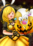 Halloween Fionna and Cake - SPEED PAINT by Mizz-chama