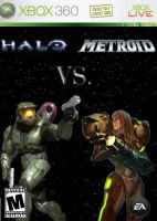 Halo Vs. Metroid Boxart by xXKB25SC0P3DXx
