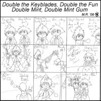 Double the Keyblades... by purplelemon
