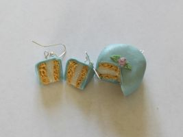 Blue Cake Charms by Purpl3Surreal