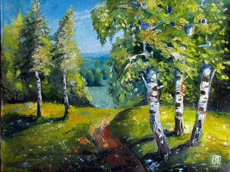 Birch trees - copy of painting by BraianDream