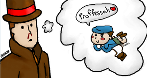 Layton and Luke DESU by Panthen