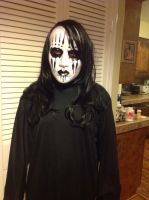 Me in a joey Jordison mask and black cosplay wig by Hellslayer10