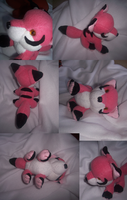 Little pink fox plush by goiku