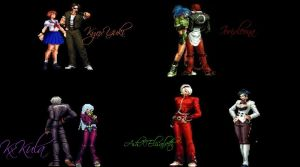 KOF Main Coulpes by LillyGamer