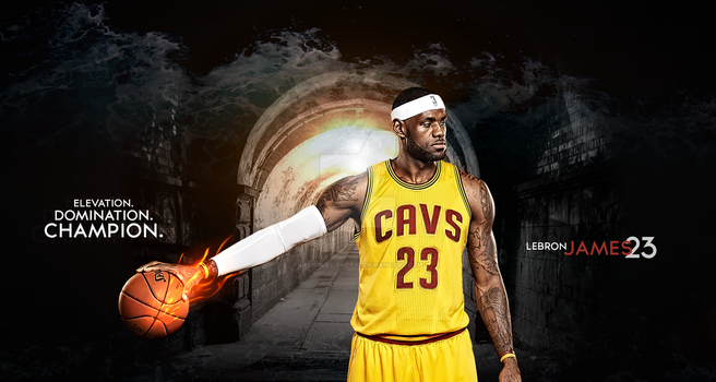 Lebron James Dominace Wallpaper by design-by-swerve