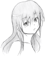 First drawing in Pchat by shizuka722