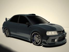 Lancer Evolution by IvanTheLoneWolf