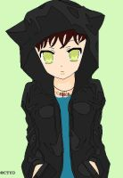 Wiona in balck hoodie by TigerBoo45