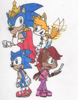 Sonic trains the New Freedom Fighters by Piplup88908