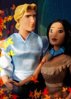 Disney Pocahontas and John Smith   Doll Repaint by claude-on-the-road