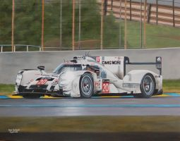 Works Porsche 919 number 20 at Le Mans 2014 by huckerback6