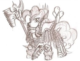 Ponyhammer 40k - The Red Angel by cahook2