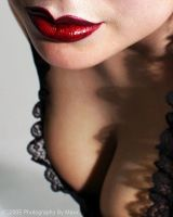 Terina's Lips and Cleavage by MaxxTheAxe