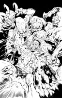 Borderhounds cover ink by Inker-guy