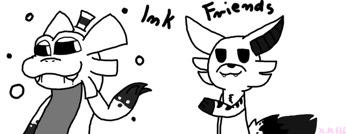 Ink Friends (Gift) by xmangle666