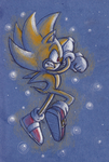 Super Sonic with pencils by adamis