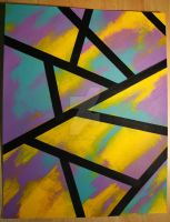 Stained Glass -pastel acrylic by cadillacphunque