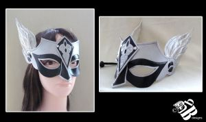 Winged Valkyrie Leather Mask by b3designsllc