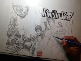 The Punisher: Walking Dead IV WIP by Ace-Continuado