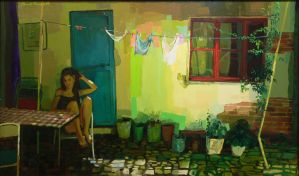 250 x 125cm oil on canvas by ilkekutlay