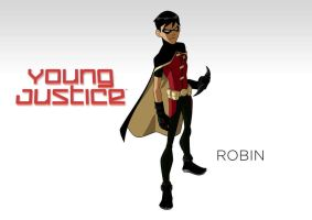 DC - Young Justice - Wallpaper - Robin by Aerrow1324