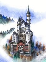 Neuschwanstein Castle by WizArtist