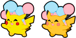Flying Pikachu (+Shiny) by CandyEvie