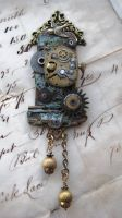 Steampunk CUCKOO CLOCK pin by NobleStudiosLtd