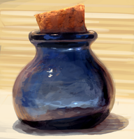 Painted Glass jar Study by charfade