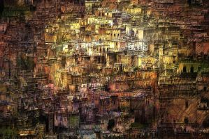 Slums of Morocco by hallbe