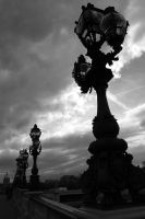 Street Lamps in Paris by ChappyApple