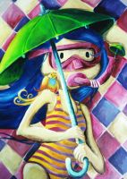 Umbrella Girl - Detail by mariliawonka