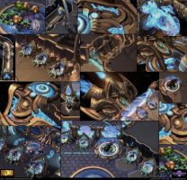 Starcraft II: Protoss Ship Environment Assets 2013 by cg-sammu