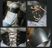 Green Leather Waist Cincher by Demara