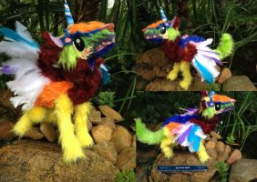 Rainbow Unicorn Poseable Commission More Photos by SonsationalCreations