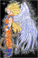 UNIQUE PC OF GOKU SSJ3 with wings by SuperSayian5Naruto