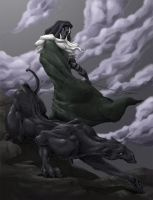 Guenhwyvar and Drizzt by Grievhander