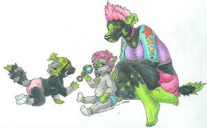 Hycoon babies in COLOR by AmelieBlaque