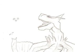 Sketch 1:tigrex by amauric