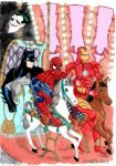 Batman, Spiderman and Iron Man...on the rides! by BabyFinn