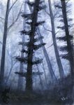 Blue Woods, version 3 by TheWingedShadow